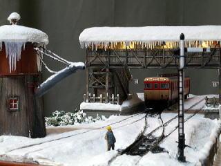 winter diorama h0
